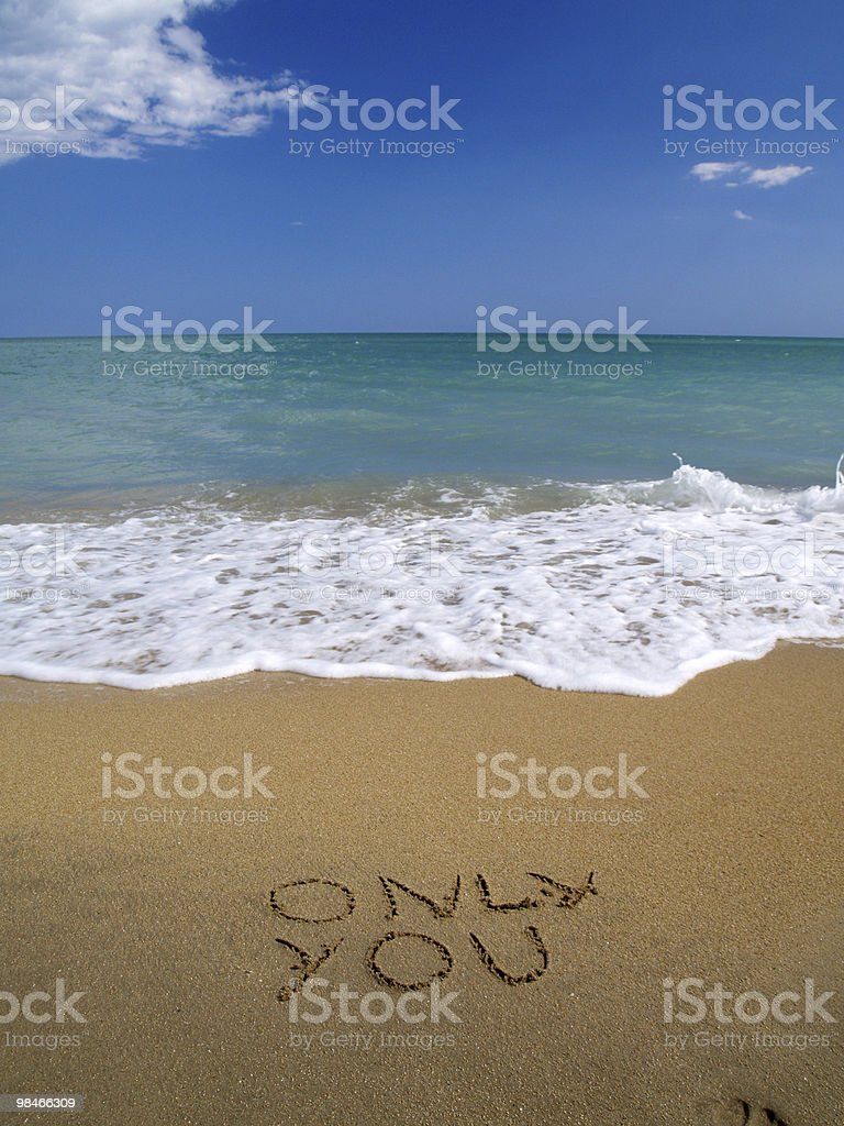 Only You written in the sand royalty-free stock photo