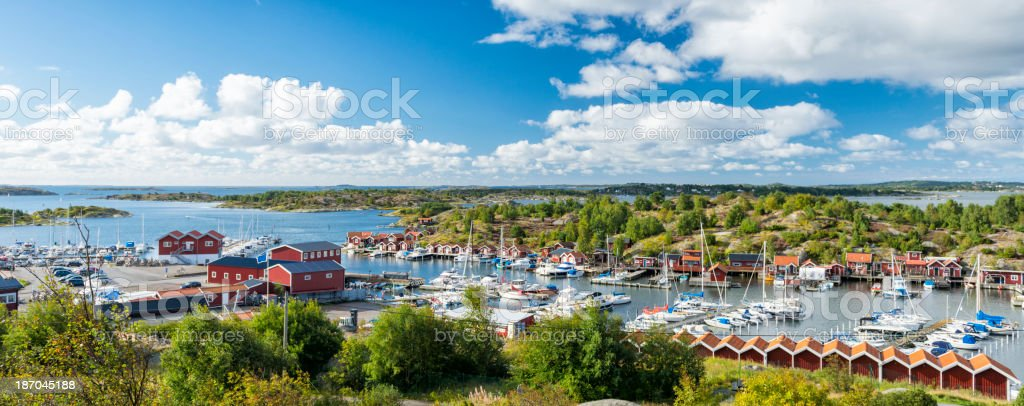 Onnered marina stock photo