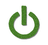 Onoff Symbol made from grass