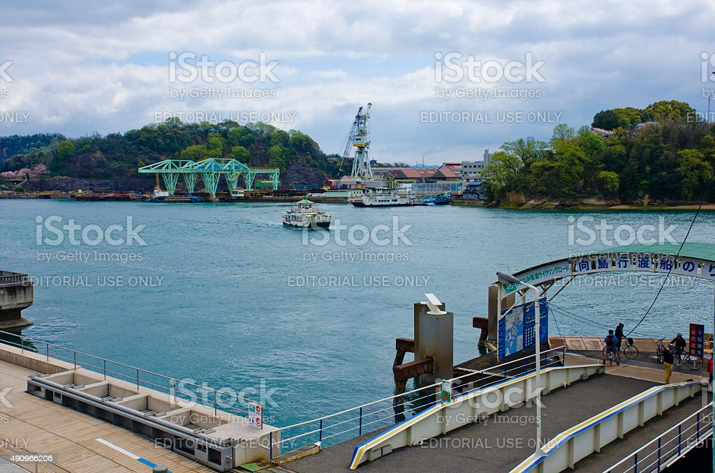 Onomichi Port to the ferry lines on the Shimanami Kaido stock photo