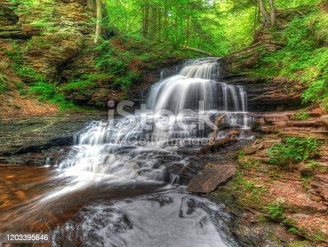 HDR blended exposure of Onondaga Falls