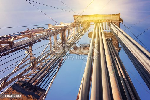 Onshore land rig in oil and gas industry