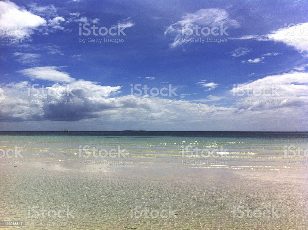 On-shore Wave Landscape royalty-free stock photo