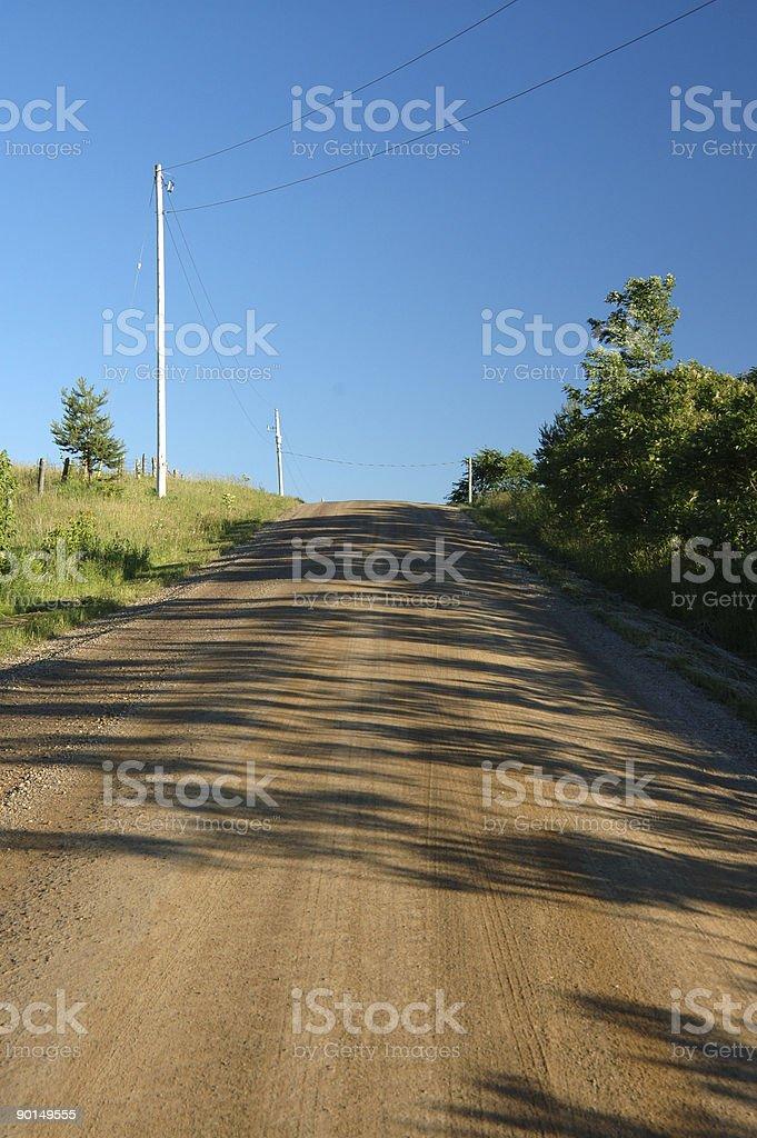 Ontario country road stock photo