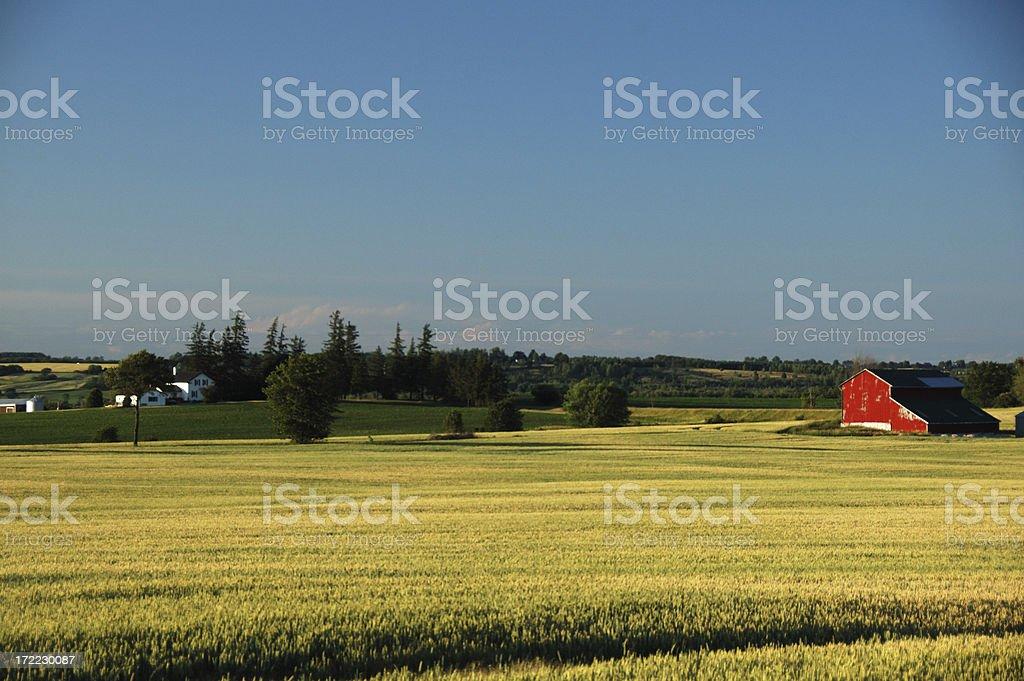 Ontario countryside landscape scene stock photo