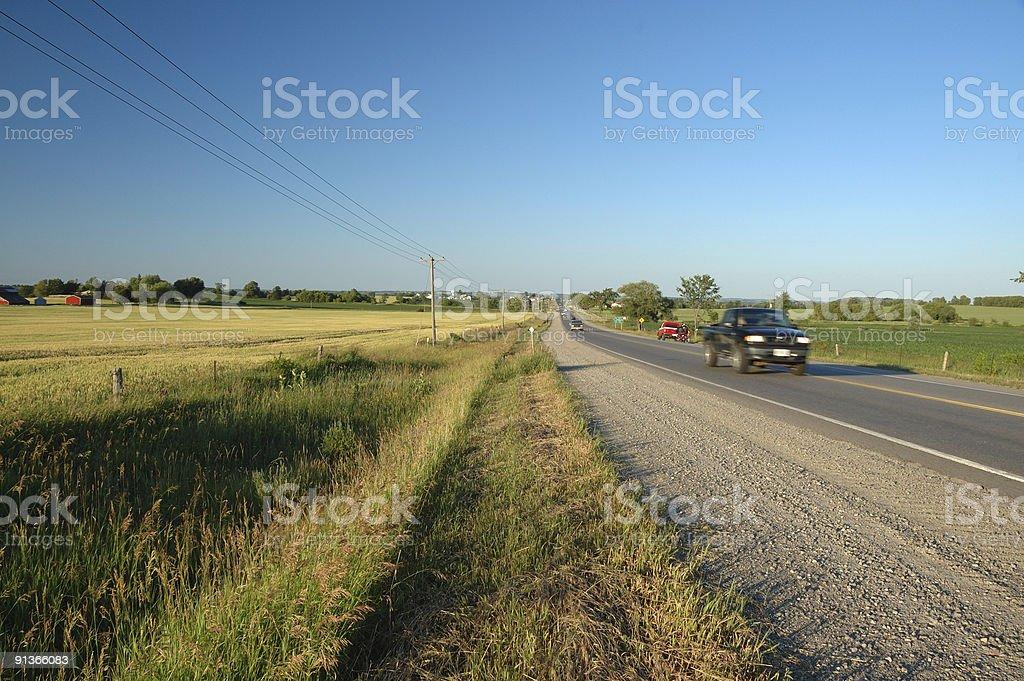 Ontario countryside roadside scene stock photo