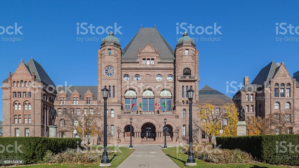 Ontario Legislative Building at Queen's Park, Toronto, Canada stock photo