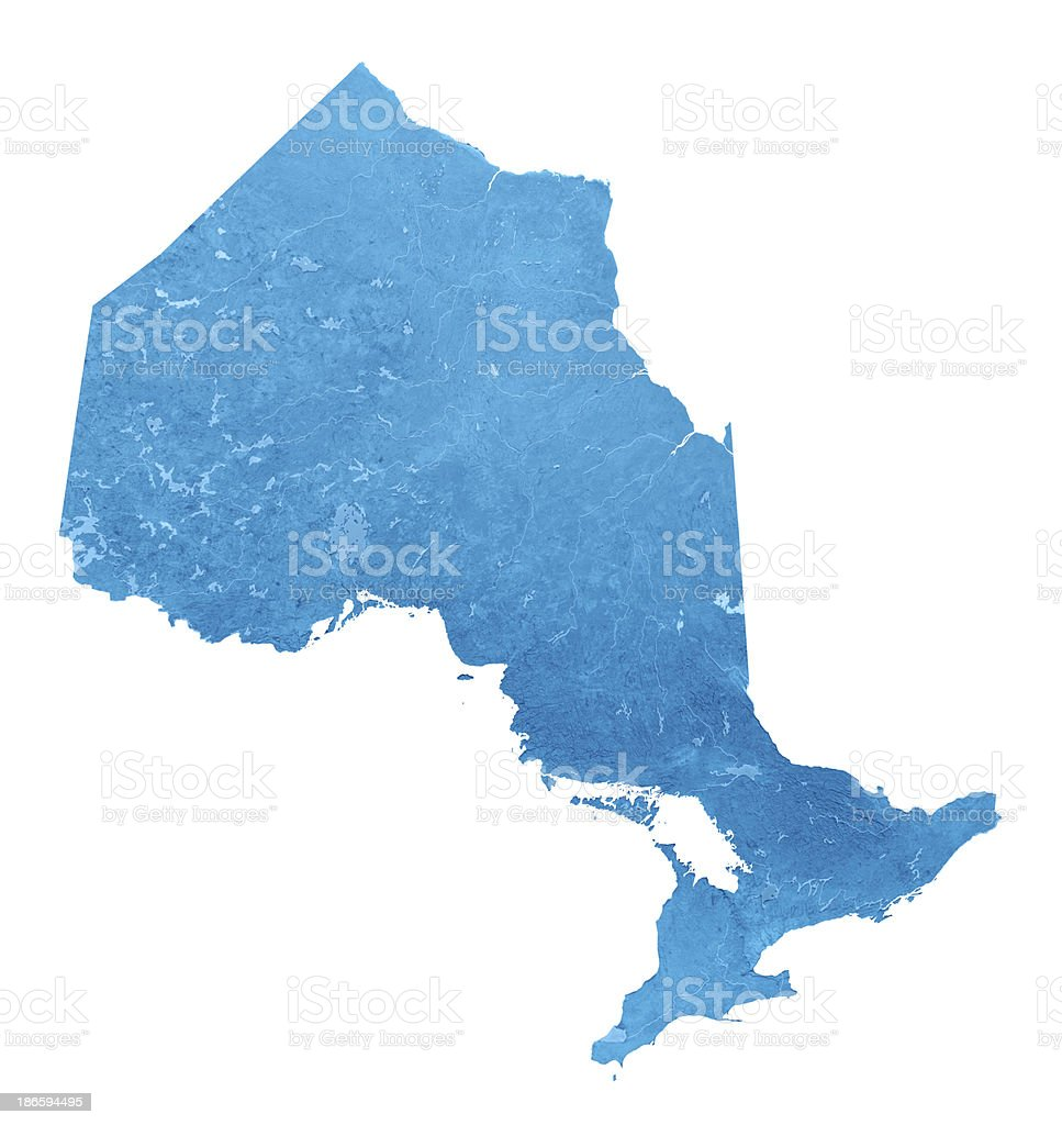 Ontario Topographic Map Isolated royalty-free stock photo