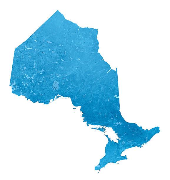 Ontario Topographic Karte Isoliert – Foto