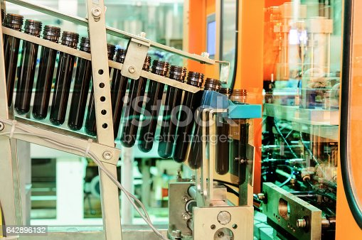 istock Сonveyor for preforms blowing machine 642896132