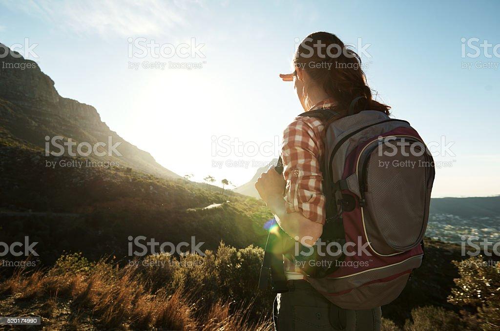 Onward to adventure stock photo