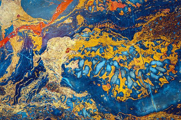 En marbre Onyx, bleu, orange, jaune et rouge, vert, brun, Beijing, Chine - Photo