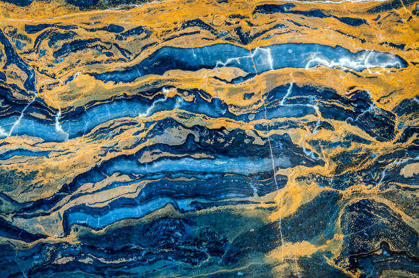 Onyx marble,blue,orange, yellow, red, green, brown,Beijing,China,Asia stock photo