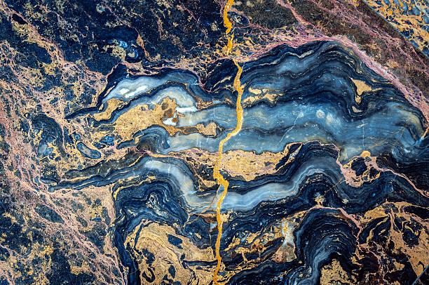 En marbre Onyx, bleu, orange et jaune, de rouge, de violet, brun, Beijing, Chine - Photo