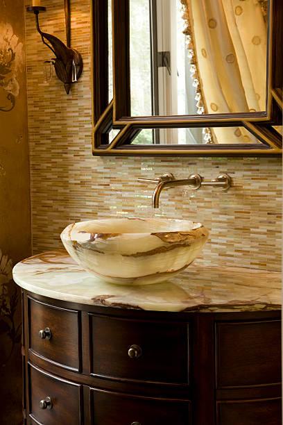 Onyx un comptoir avec lavabo sur mesure bowl - Photo