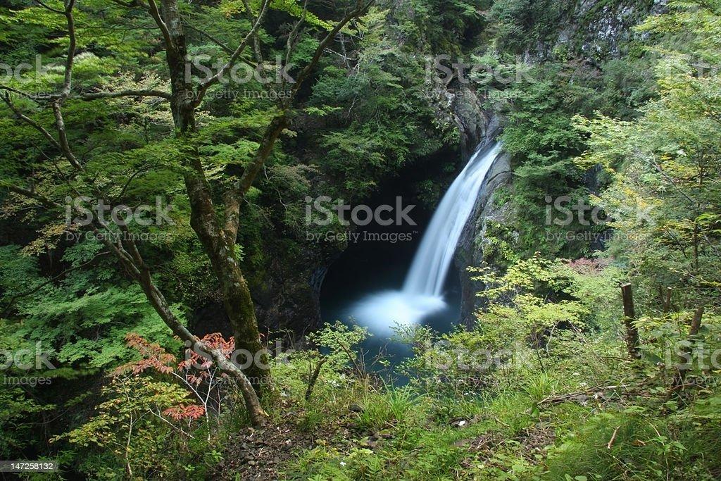 Ookame Waterfall stock photo