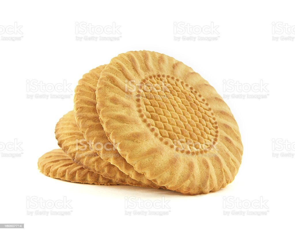 Сookies on a white background royalty-free stock photo