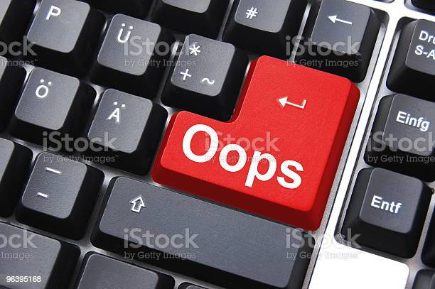 Oops Key Stock Photo - Download Image Now