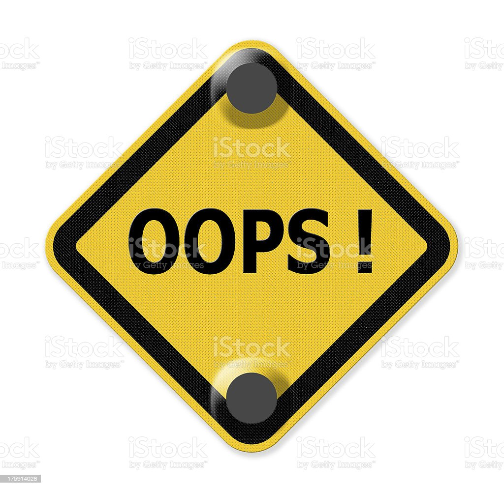 Oops sign royalty-free stock photo