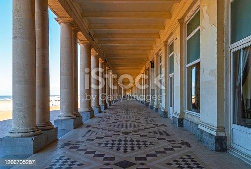 istock Oostende Waterfront Promenade, Belgium 1266705287