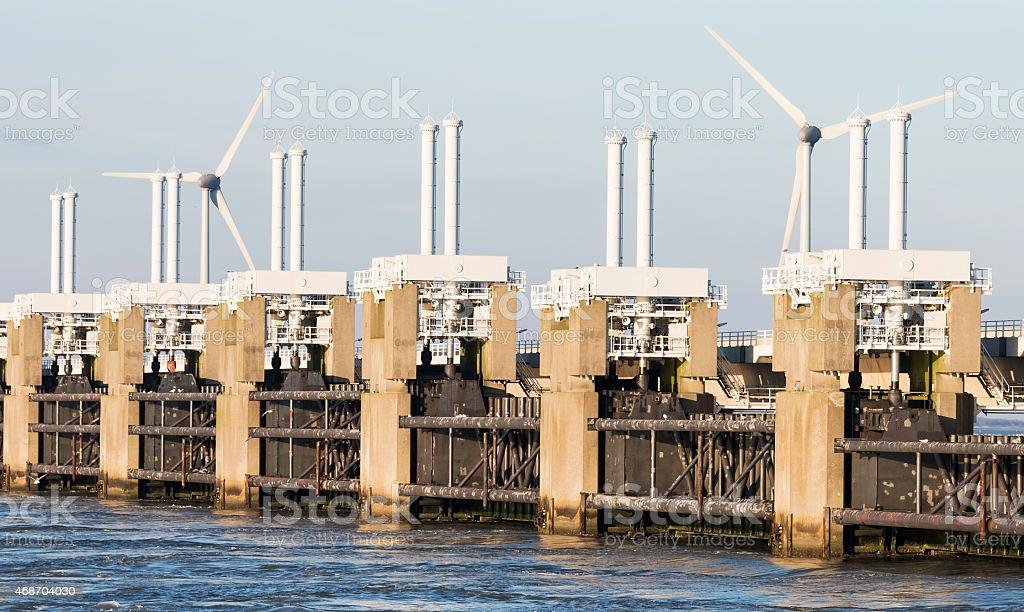 oosterschelde delta works stock photo
