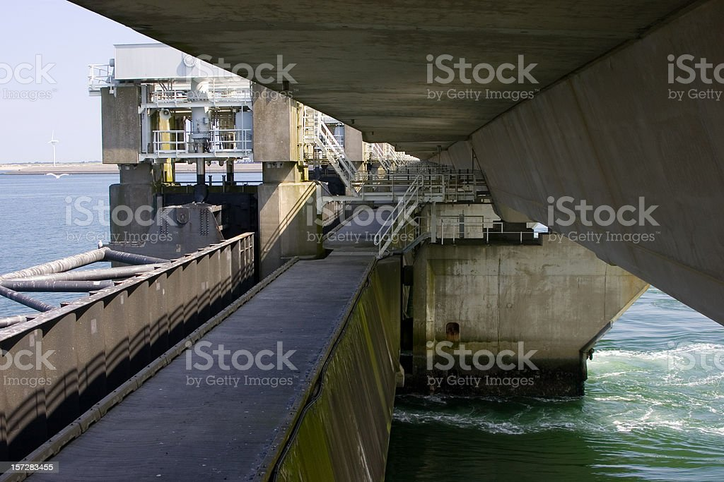 Oosterscheldedam royalty-free stock photo