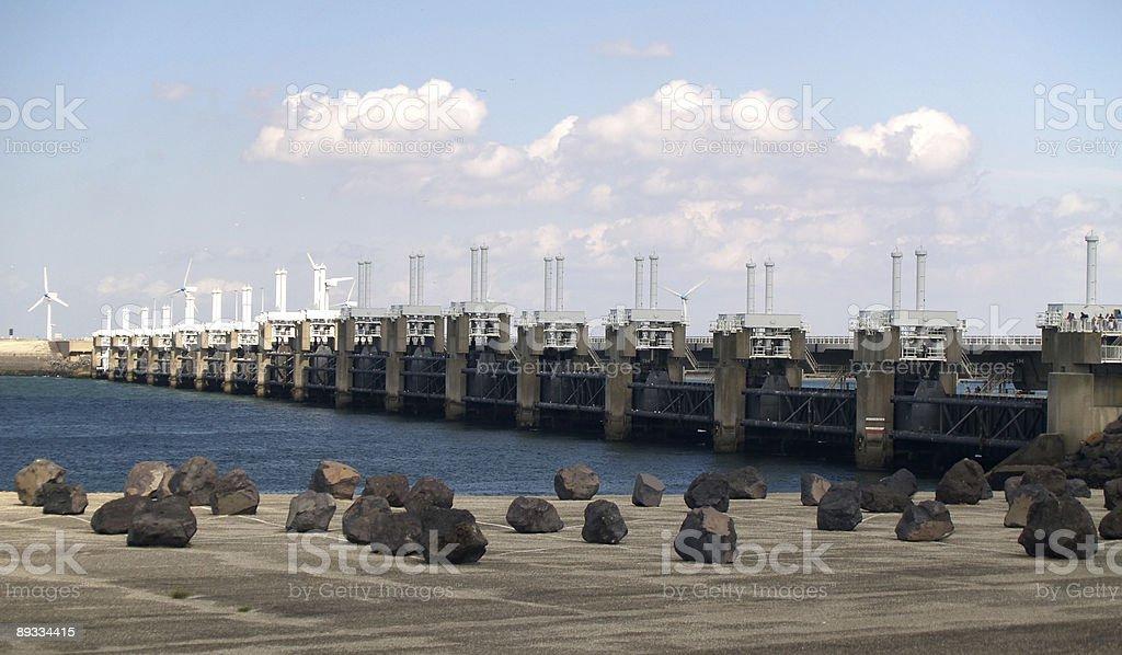 Oosterscheldekering in Zeeland, Netherlands stock photo