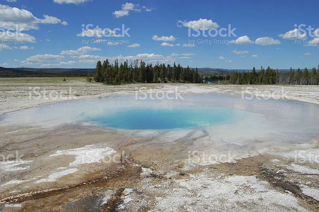 Opal Pool at Yellowstone National Park royalty-free stock photo