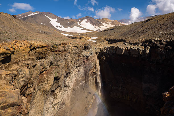 Opasny Canyon on the slopes of Mutnovsky Volcano stock photo