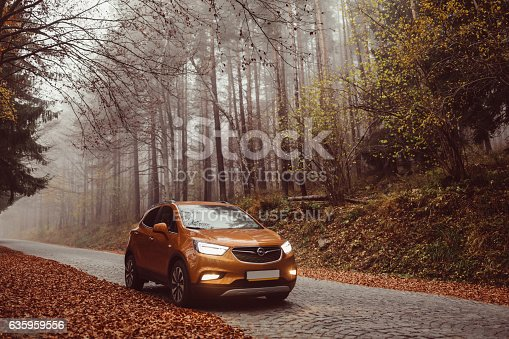Sofia,Bulgaria - October 27, 2016: The newest SUV of Opel with improved appearance including - modern headlights, elegant dashboard and OnStar system that can be used in case of emergency,car accident or when experiencing problems with finding the direction.