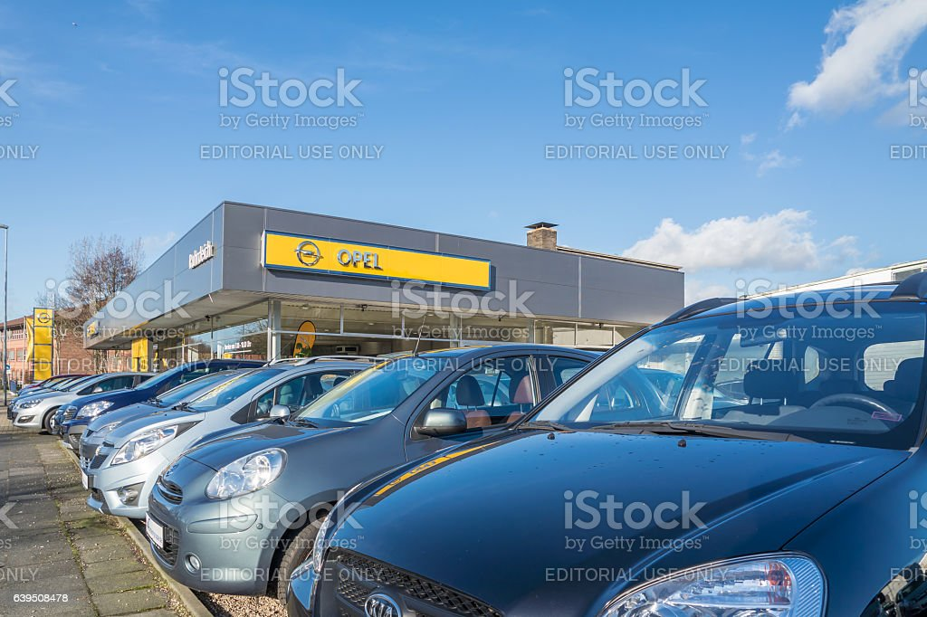 Opel reseller stock photo