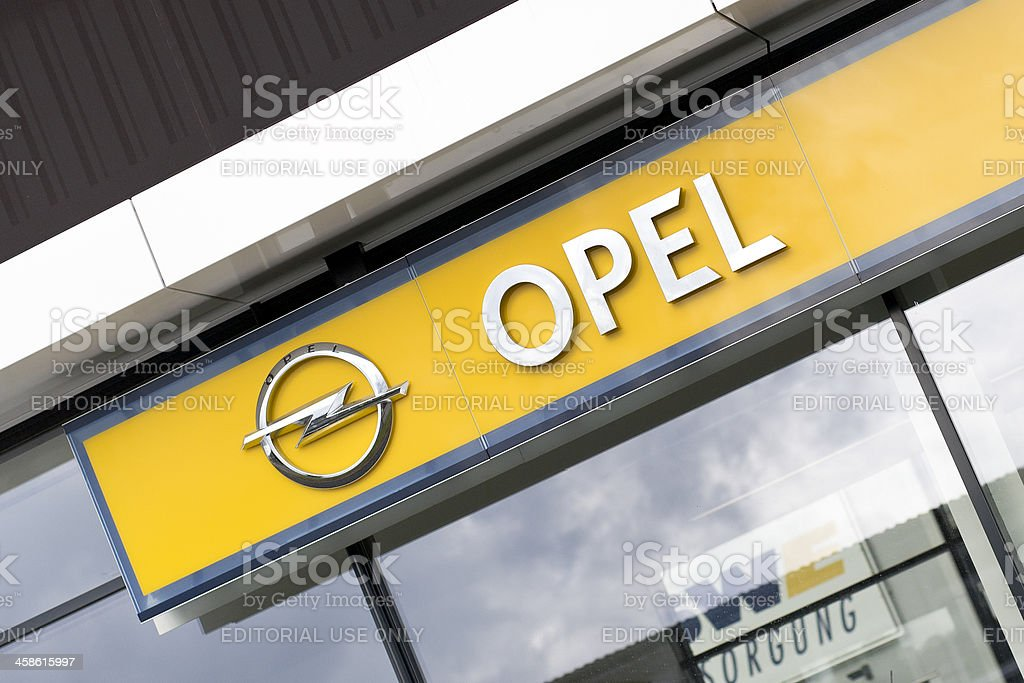 Opel sign royalty-free stock photo