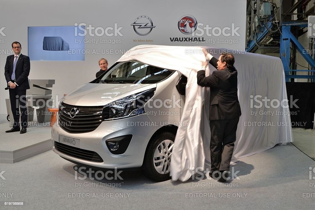 Opel Vivaro on the international premiere stock photo