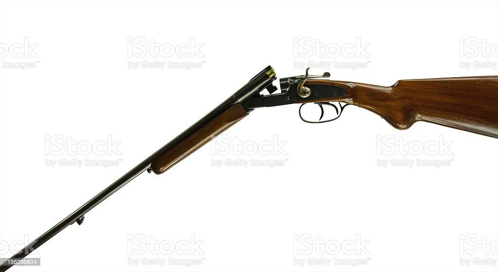 Open .410 Shotgun stock photo