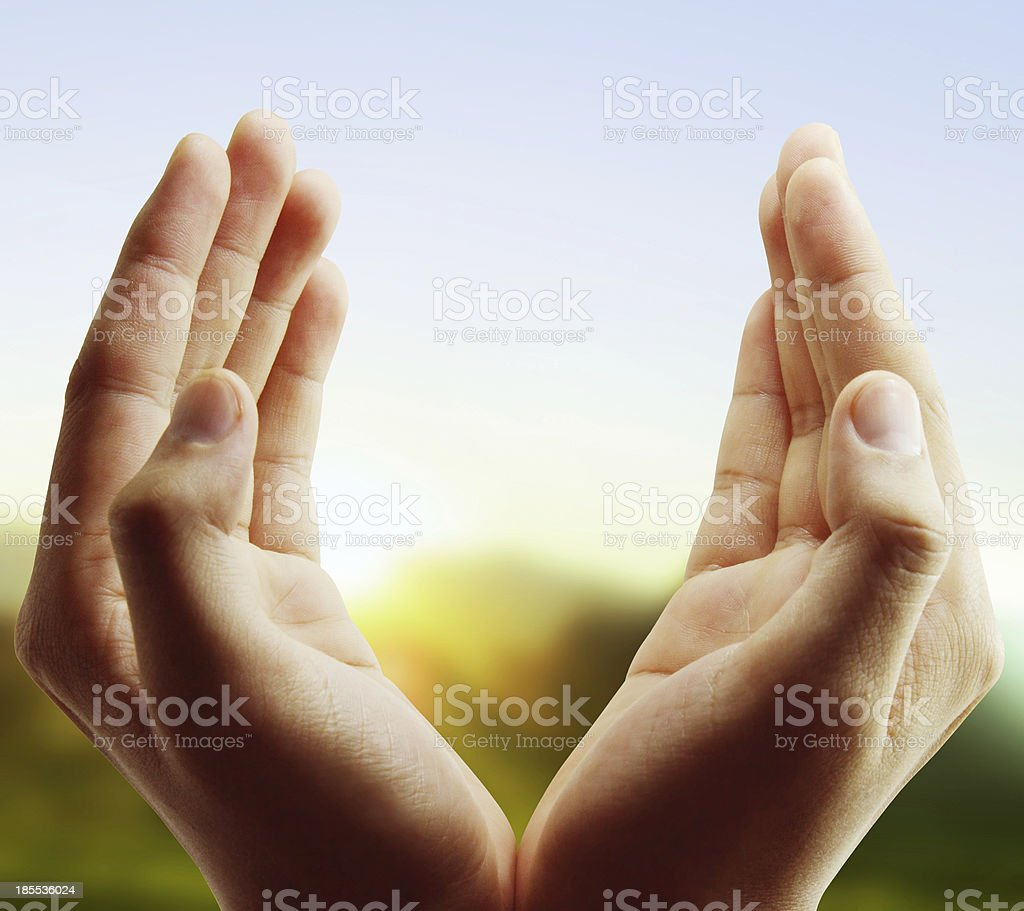 open a hand stock photo