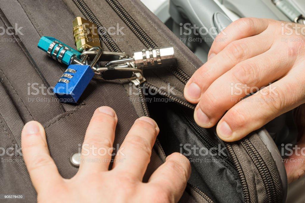 locked zipper open