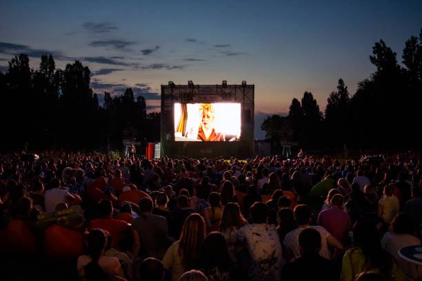 open air cinema - cinema zdjęcia i obrazy z banku zdjęć