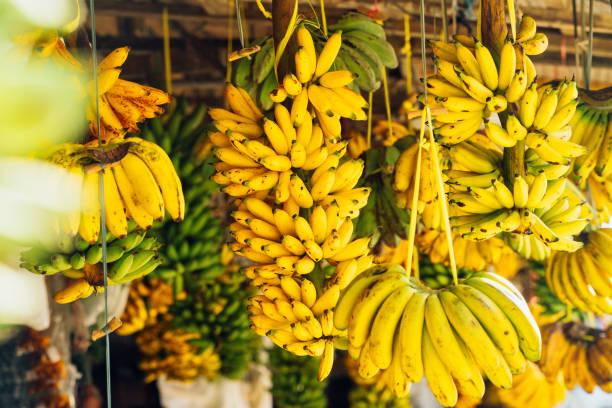 Open-Air-Obst-Markt mit Bananen – Foto