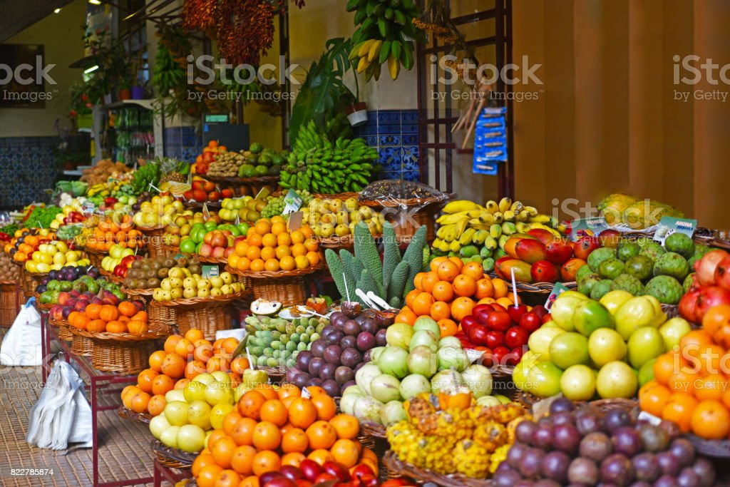 Open air market. stock photo