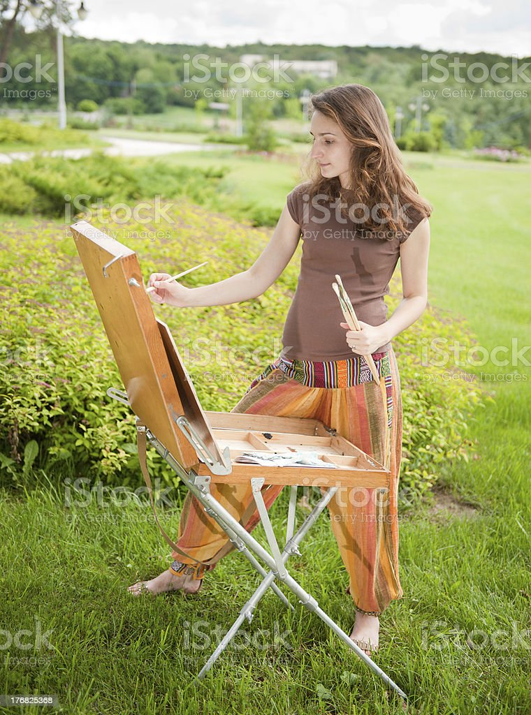 Open air painting royalty-free stock photo