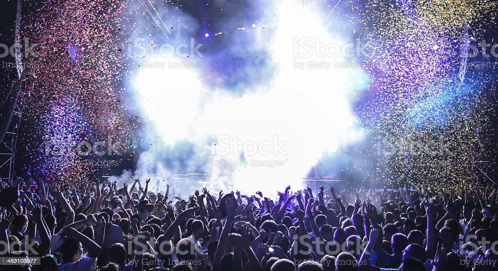 Open air party in the nighclub stock photo