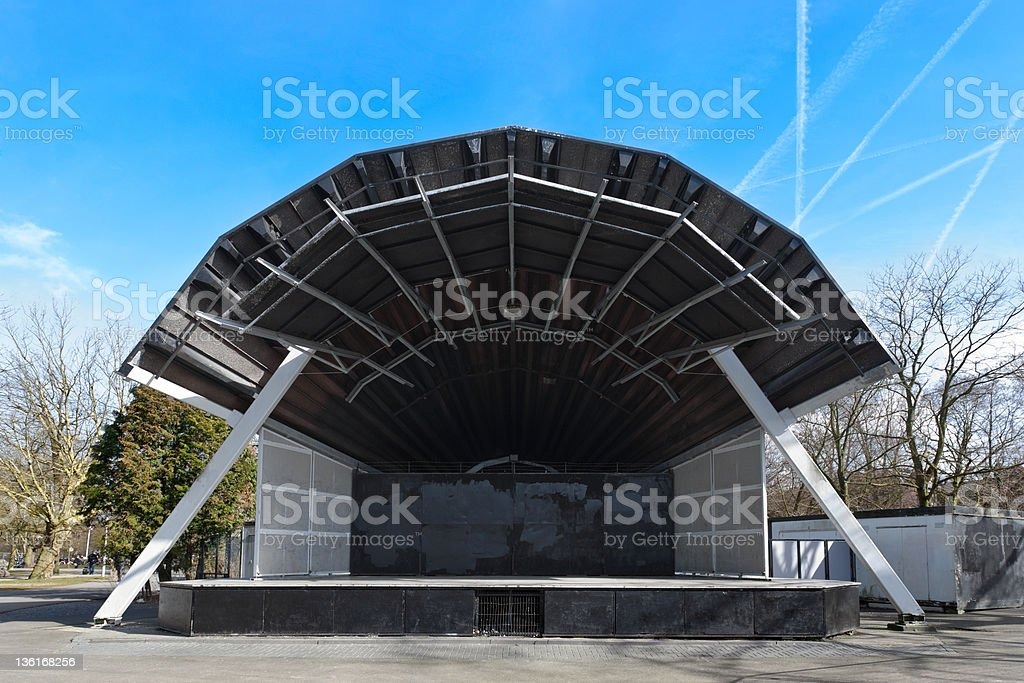 Open air stage stock photo