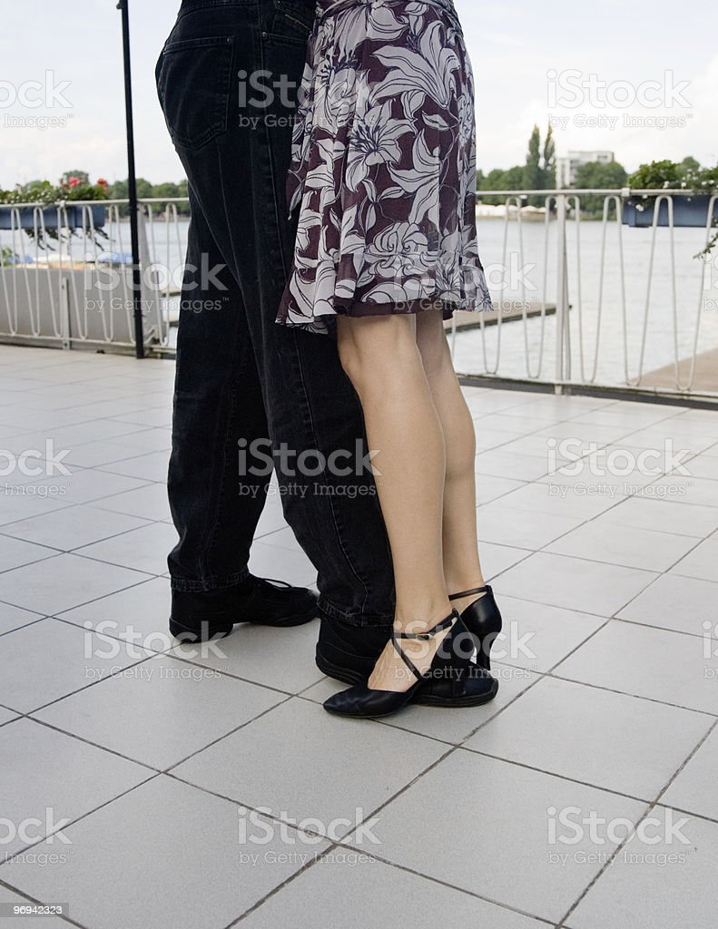 Open air tango royalty-free stock photo