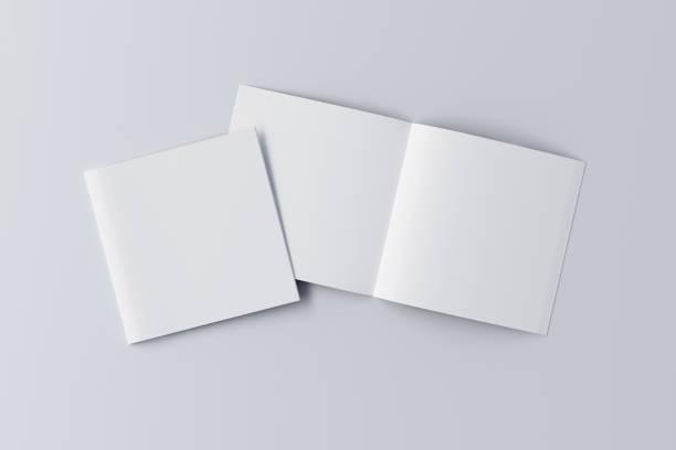 打開和關閉空白摺頁冊 - 方形 個照片及圖片檔