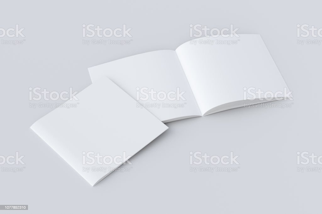 Open and closed  blank booklet foto stock royalty-free