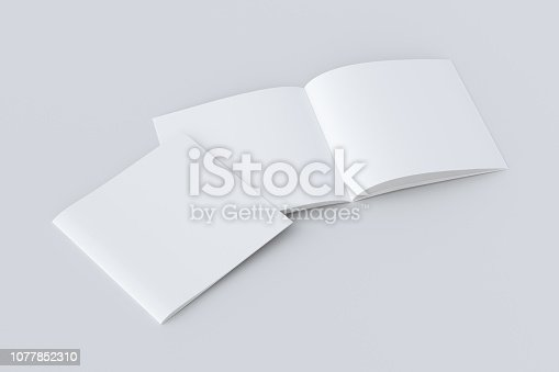 887572514istockphoto Open and closed  blank booklet 1077852310