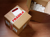 istock Open and Closed Cardboard Box 160478416