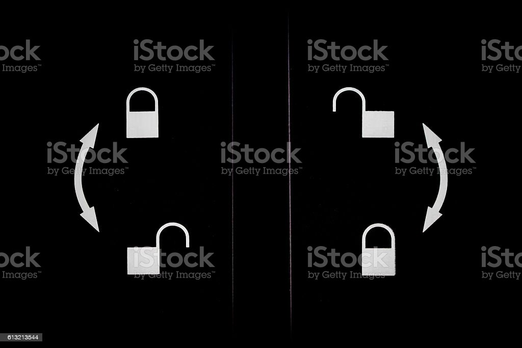 Open and closed. stock photo