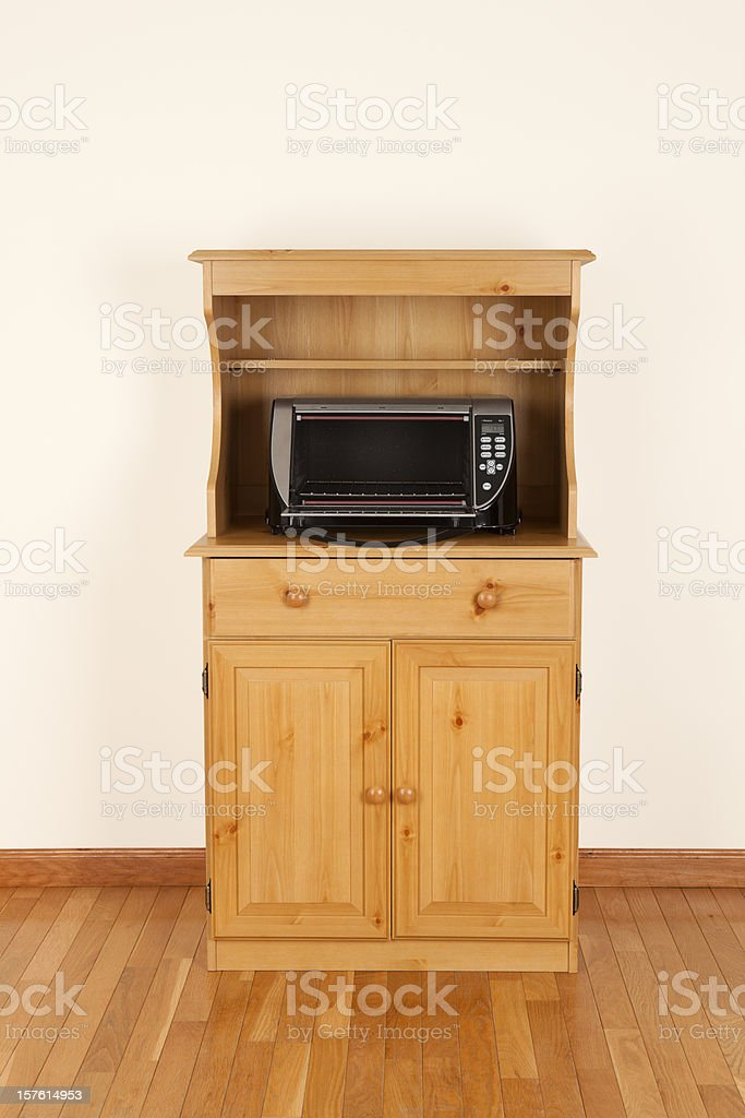 Open and Hot Toaster Oven stock photo