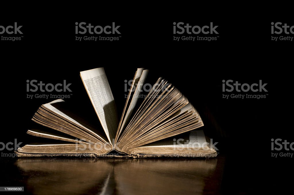 Open Antique Bible royalty-free stock photo